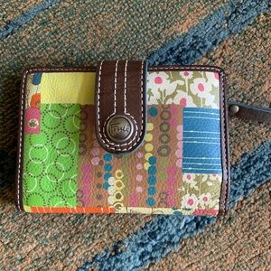 Darling Fossil patchwork leather wallet